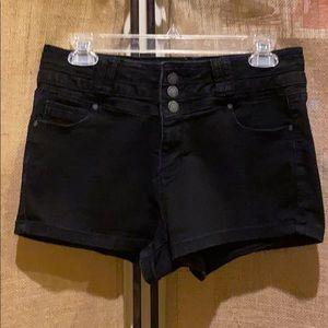 Blue Spice Black denim shorts
